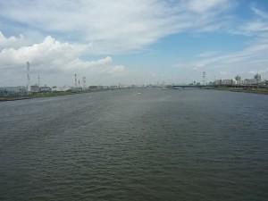 荒川河口橋からの眺め