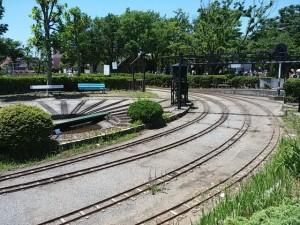 行徳駅前公園のSL線路