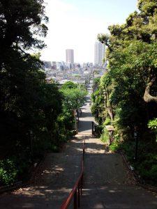 真間山弘法寺から市川駅方面を望む