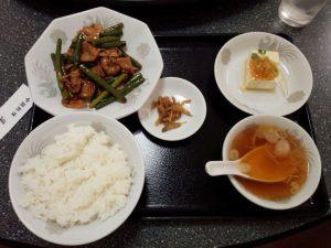 中国料理 菜華「豚肉とニンニクの芽の炒め」