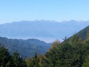 ウルトラオリエンテーリング:保福寺峠から見た北アルプス