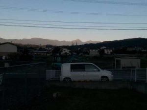 ウルトラオリエンテーリング松本城上田城 北アルプスが見える