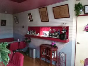 フランボアの喫茶コーナー
