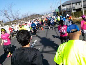館山若潮マラソン 自衛隊前の折り返し