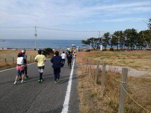 館山若潮マラソンのコース:往路に合流