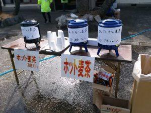 館山若潮マラソンの麦茶