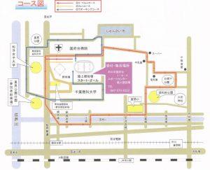 市川市民元旦マラソンのコース図