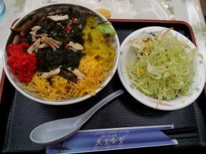 鹿児島空港食堂の鶏飯食べ放題