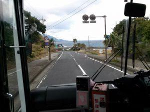 屋久島のバスからの風景
