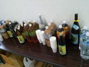屋久島ECOマラニック前夜祭の飲み物