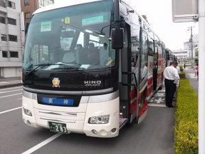 龍神温泉スタート会場へのバス