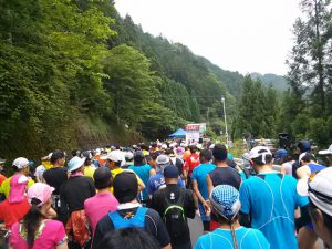 高野山龍神温泉ウルトラマラソンのスタート