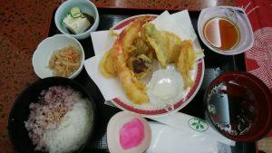 太子の湯の天ぷら定食