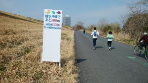 板橋Cityマラソン設営中