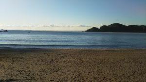 朝の弓ヶ浜海岸